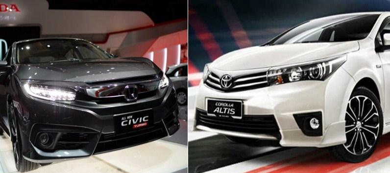 Civic Vs Corolla >> Perbandingan Honda Civic Turbo Vs Toyota Corolla Altis