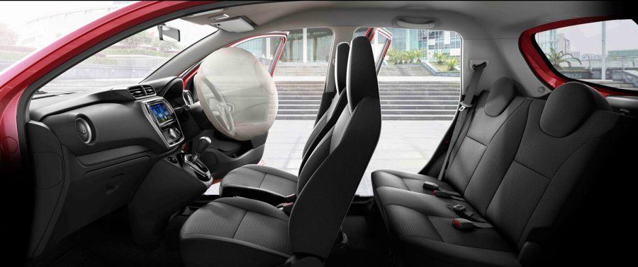Kabin Datsun Go CVT tampak lebih nyaman dan lega