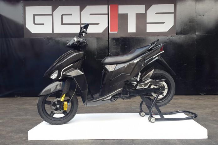 Sepeda Motor Listrik Gesits saat diperkenalkan kepada publik