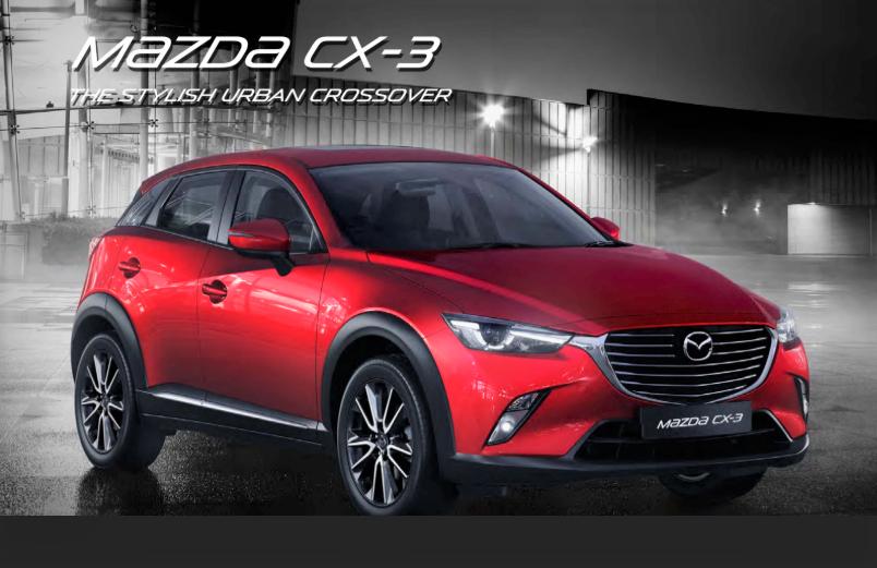 Gambar Mazda CX-3 yang dijual di Indonesia - warna merah