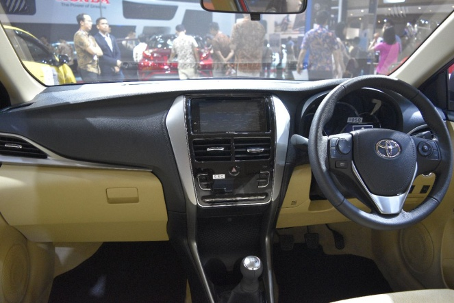 Gambar bagian dashboard di mobil Toyota Vios