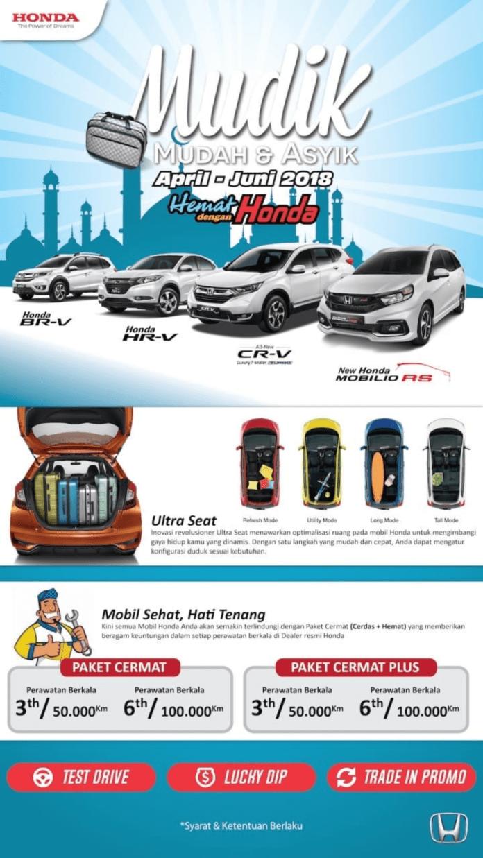 Gambar menunjukkan beberapa promosi saat membeli mobil Honda BR-V  pada bulan ini