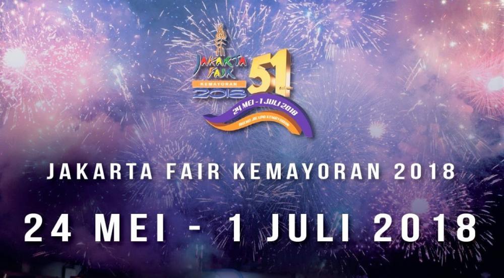 Banner Jakarta Fair kemayoran 2018
