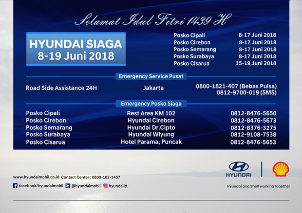 Posko Siaga Hyundai saat Mudik 2018