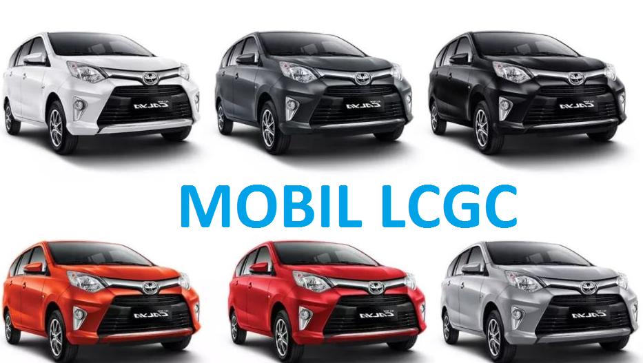 Gambar ini menunjukkan 6 mobil LCGC dengan berbagai merek dan tipe serta warna
