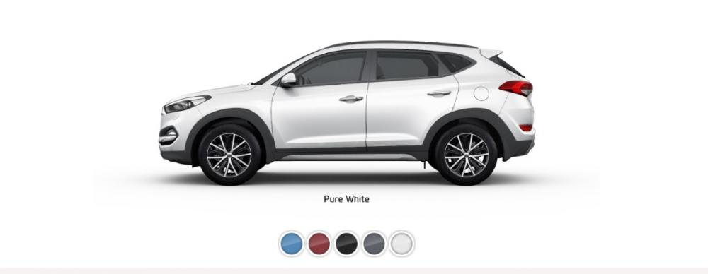 Pilihan Warna Hyundai Tucson dan kini berwarna putih