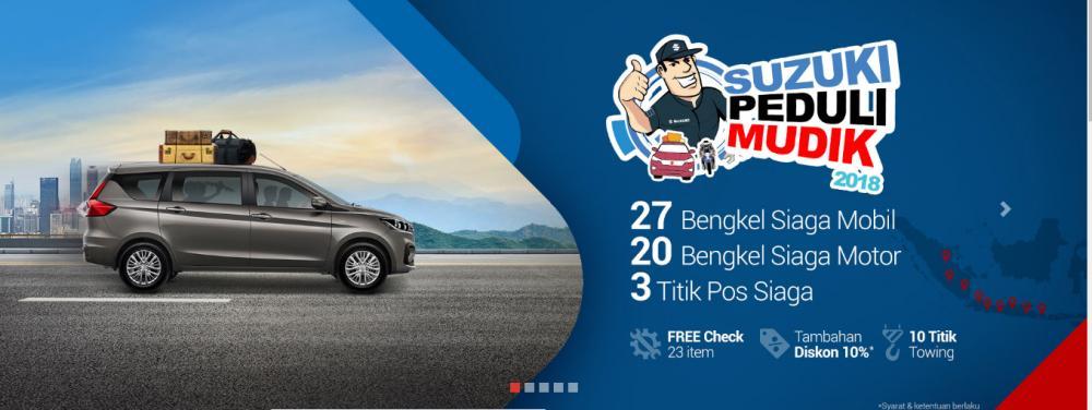 Gambar menunjukkan program promosi saat mudik 2018 dari Suzuki