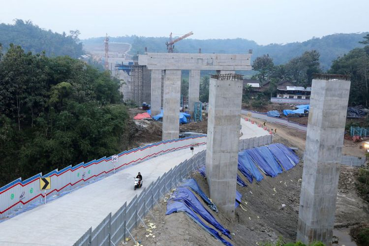 jalur alternatif Jembatan kali kenteng tol salatiga - kartasura kabupaten semarang