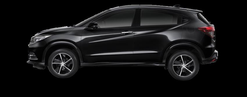 Gambar bagian samping mobil Honda HR-V Facelift 2018 berwarna hitam