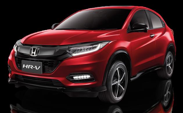Tampilan eksterior mobil Honda HR-V Facelift 2018 berwarna merah