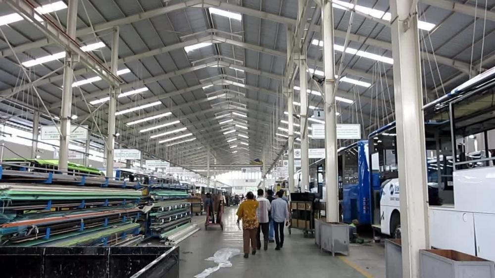 Lokasi produksi pabrik Karoseri Laksana Ungaran