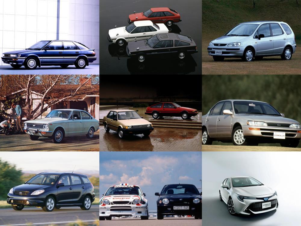 gambar menunjukkan banyak mobil Toyota Corolla menurut tahun