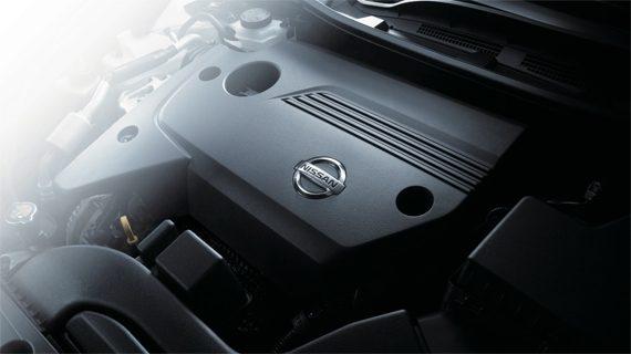 Mesin Nissan Teana Tersusun Rapi Dengan Cover