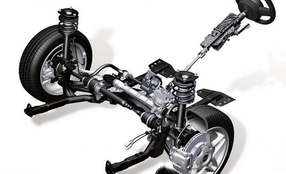 Gambar ini menunjukkan ilustrasi sistem penggerak FWD atau front wheel drive pada Mobil
