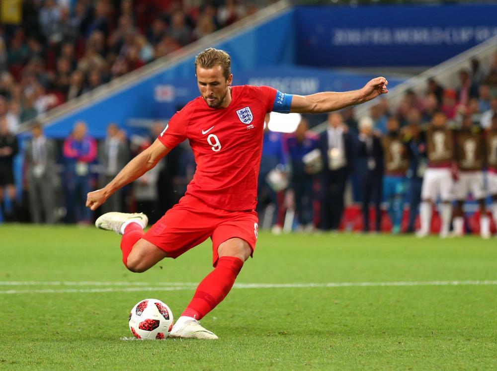 Foto Pemain Timnas Inggris Harry Kane di Piala Dunia 2018 Russia