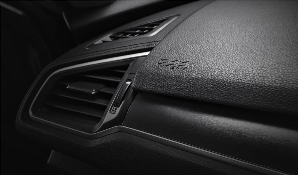 gambar fitur airbag honda civic 2016 yang terpasang di dashboard mobil