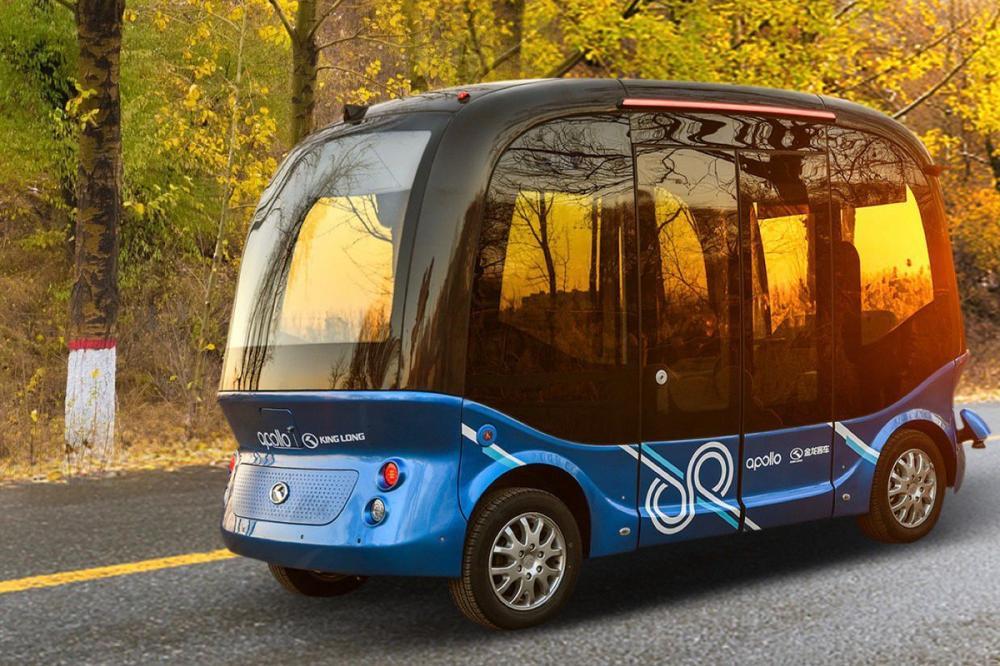 Gambar yang menunjukan mobil bus baru dari Baidu bernama Apolong