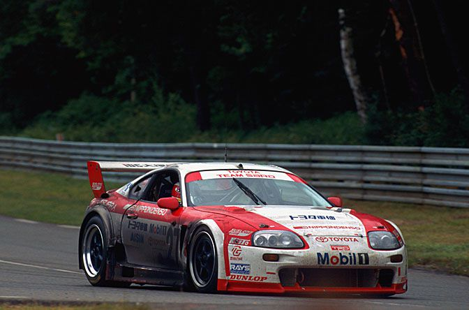 Aksi Toyota Supra LM GT di balap Le Mans 24 Jam 1995