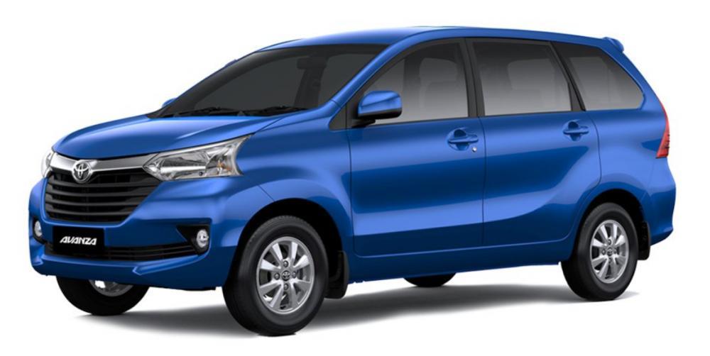 Gambar sebuah mobil Toyota Avanza berwarna biru