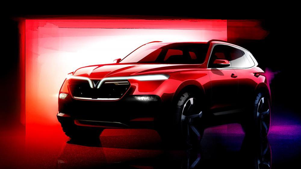 Gambar yang menunjukan konsep mobil SUV baru dari VinFast