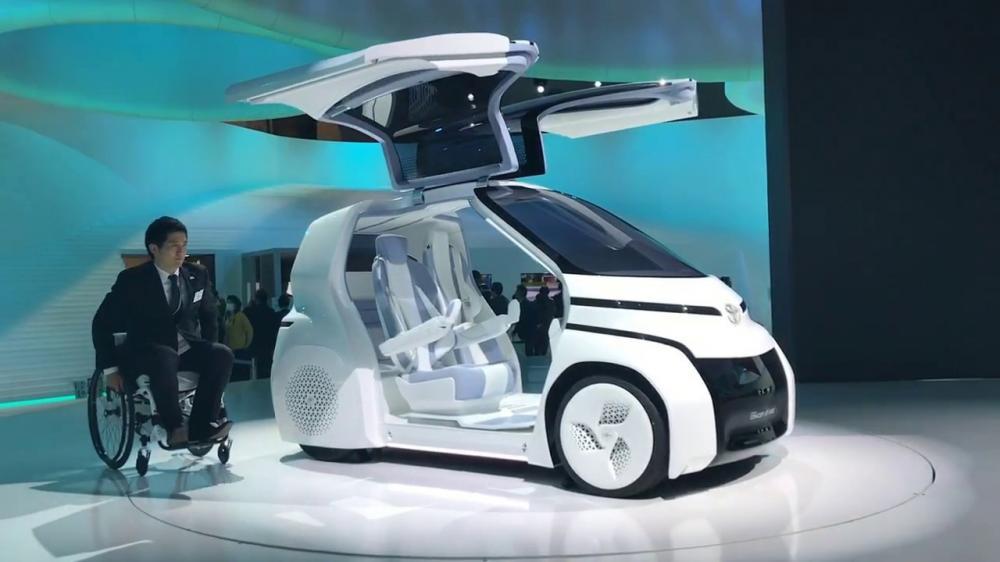 Gambar yang menunjukan teknologi terbaru i-Ride Toyota