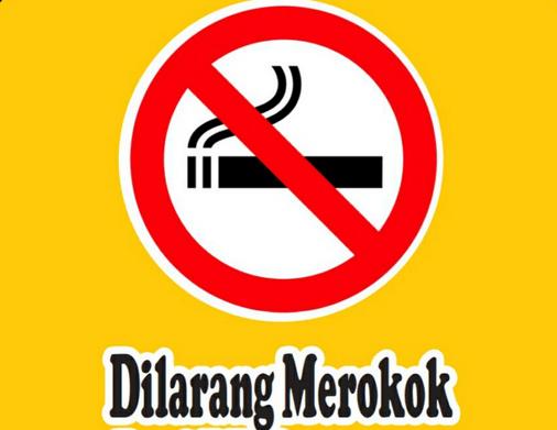 Gambar ini menunjukkan gambar yang menunjukkan dilarang merokok