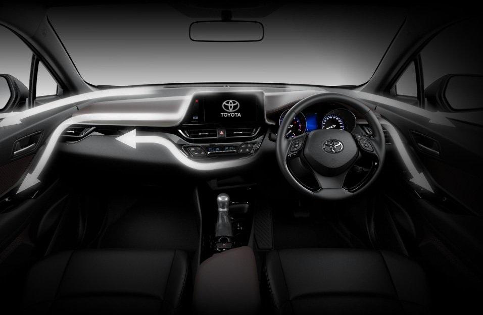Dashboard Toyota C-HR 2018 Memiliki Banyak Material Soft