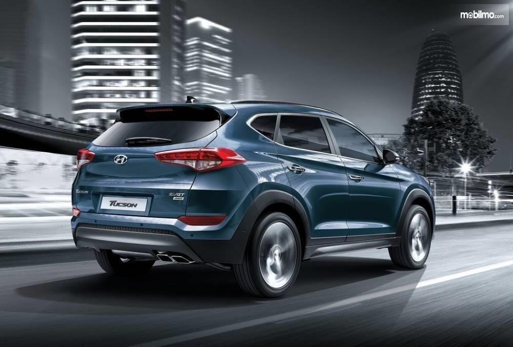 Bagian Belakang Hyundai Tucson 2017 Terlihat Besar dan Kokoh