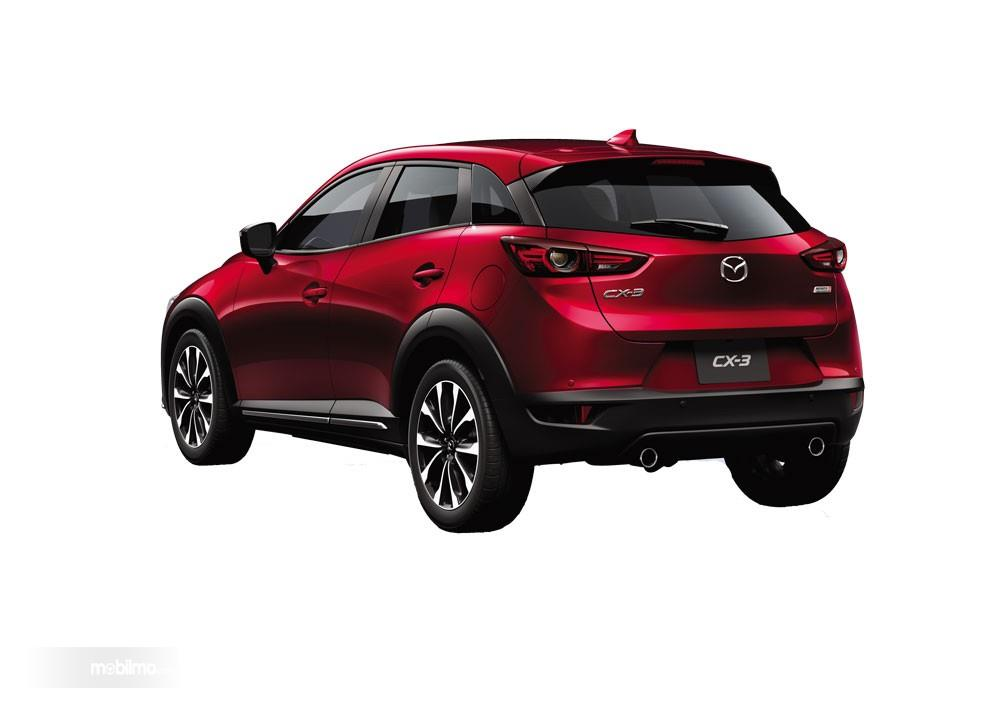 Bagian Belakang Mazda New CX-3 2018 Dengan Lampu Belakang LED