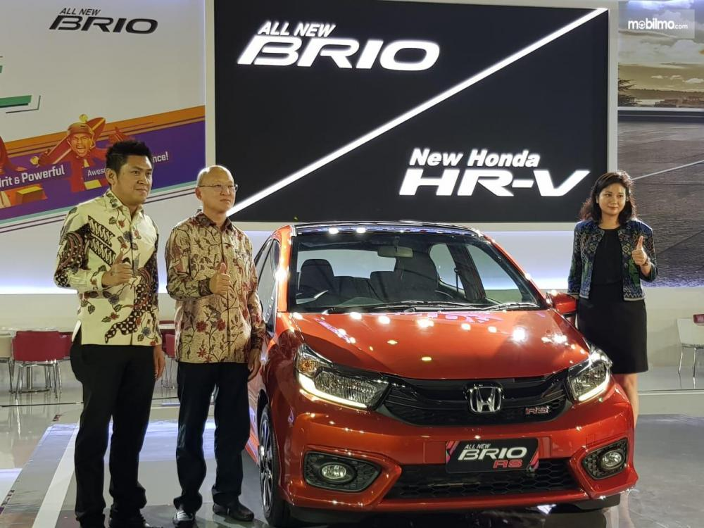 Foto Honda Brio di GIIAS Makassar 2018