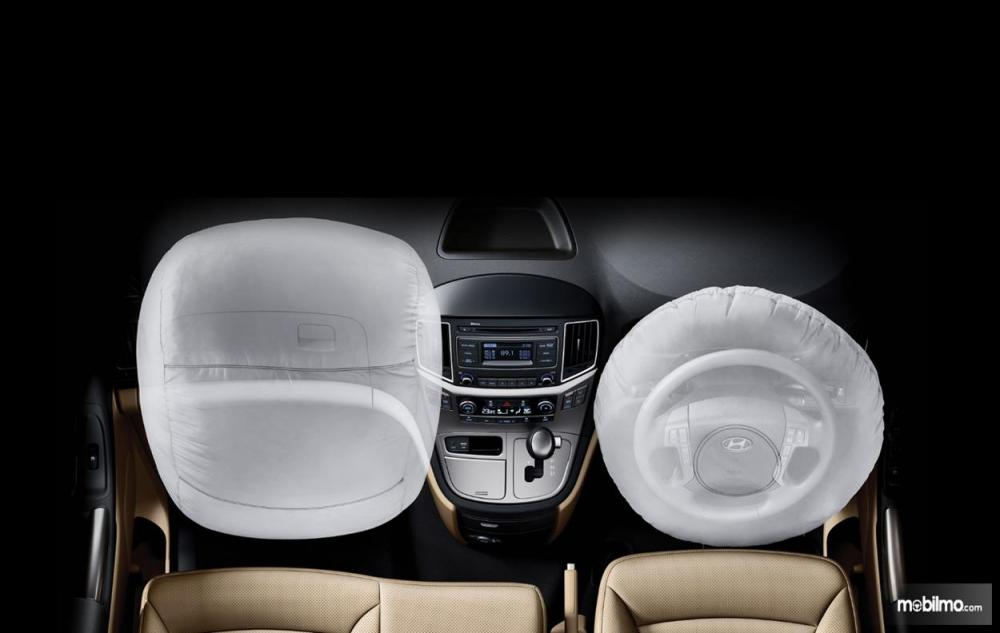 fitur Dual SRS Airbags pada Hyundai H-1 2018 khusus penumpang depan