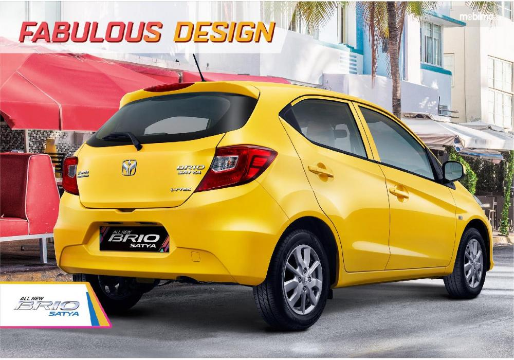 Foto All New Honda Brio Satya warna kuning