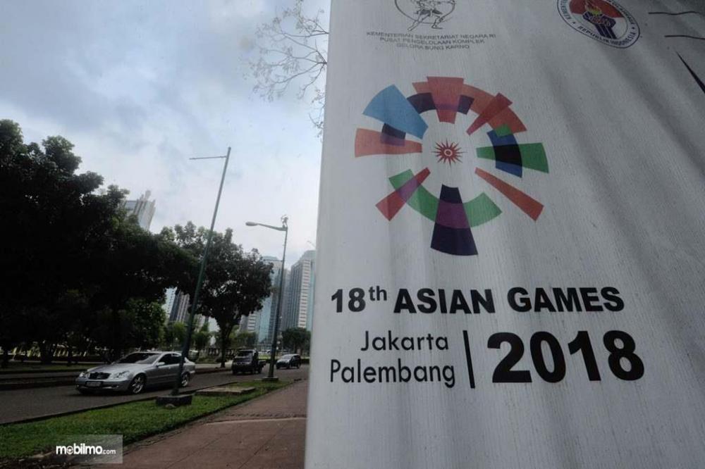 Salah satu foto Bendera Asian Games di Jakarta