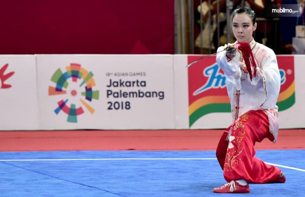 Foto Penampilan Lindswell Kwok di Asian Games 2018