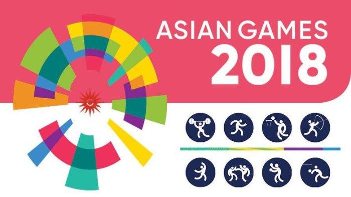 Gambar yang menunjukan beberapa ikon cabang olahraga pada Asian Games 2018