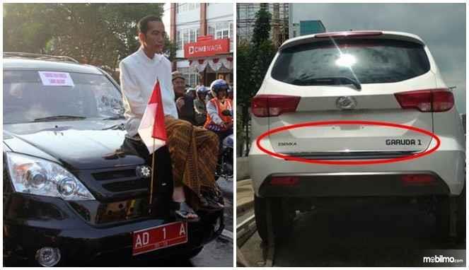 Tampak Presiden Republik Indonesia Joko Widodo saat masih menjabat walikota Solo dengan Esemka