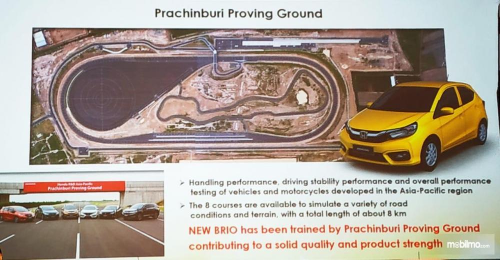 Semua mobil Honda yang dijual pada area Asia-Pasifik pasti dites Prachinburi Proving Ground