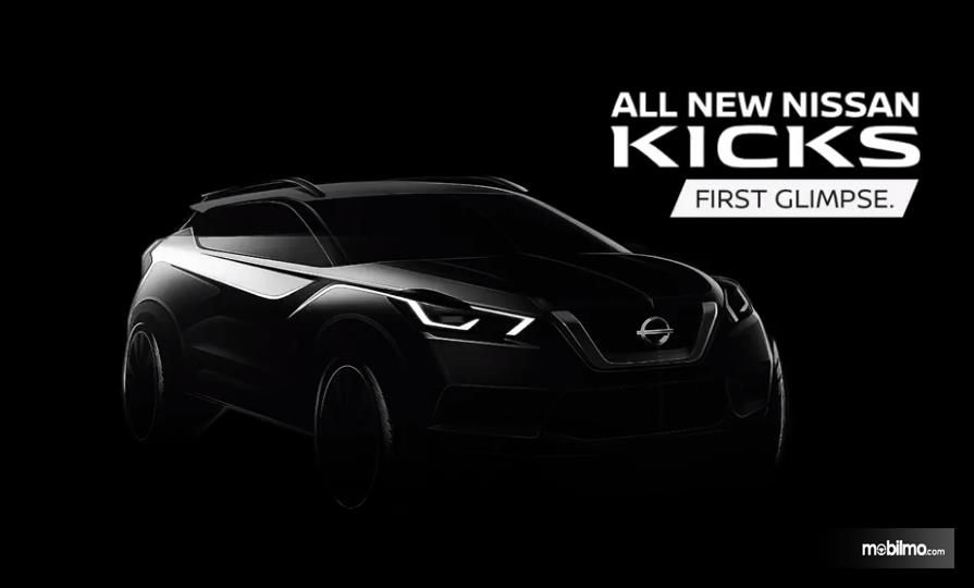 Foto sketsa pertama All New Nissan Kick