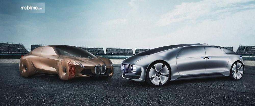 Foto mobil masa depan BMW dan Mercedes-Benz