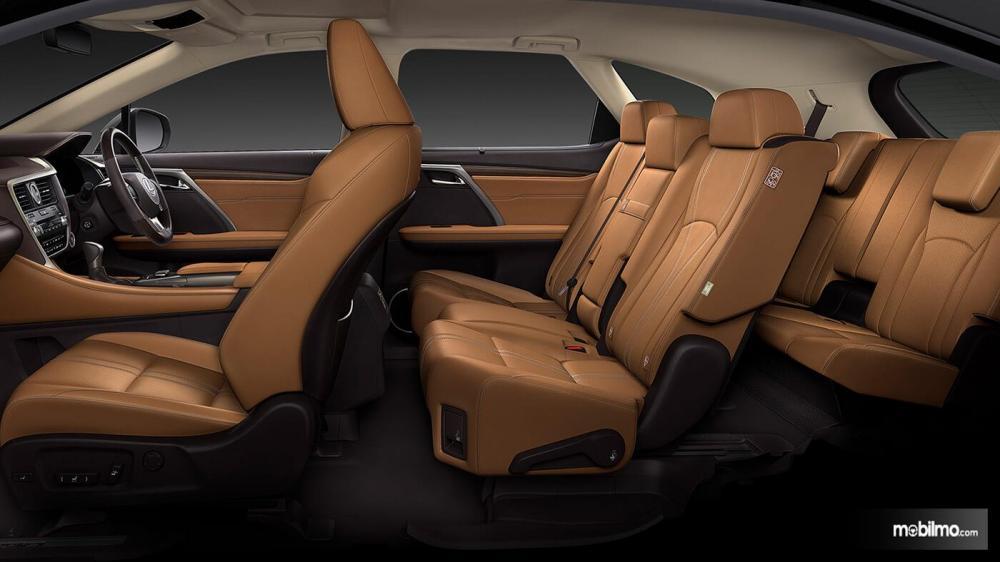 Tampak Konfigurasi Kursi Di Lexus RX350L 2018