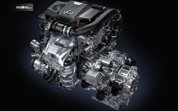 Tampak mesin berkonfigurasi V6 yang digendong Lexus RX350L 2018