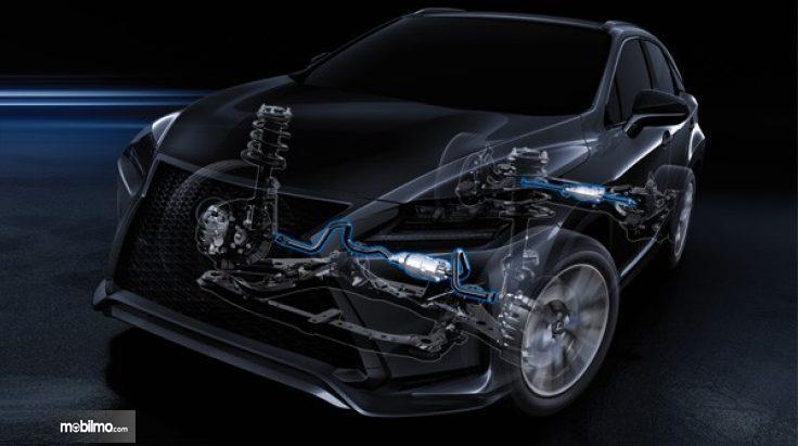 Pengendalian dinamis dari Lexus RX350L 2018 sangat terbantu oleh dynamic torque control ini