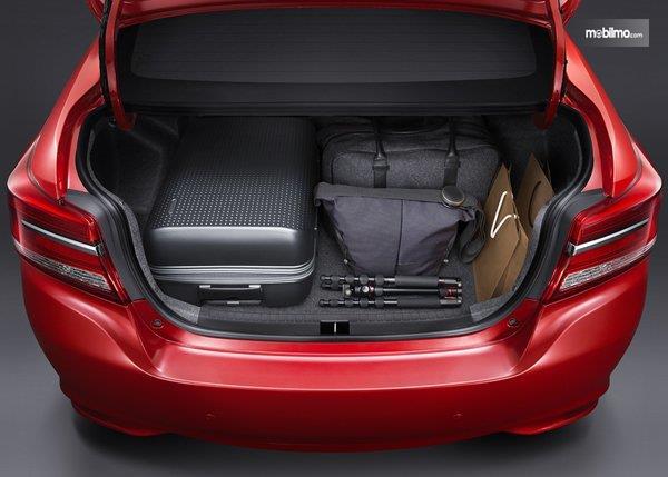 bagian bagasi Toyota Vios G CVT 2018 berkapasitas 506 liter