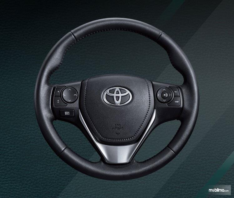 bagian setir Toyota Vios G CVT 2018 dengan audio steering switch dan paddle shift