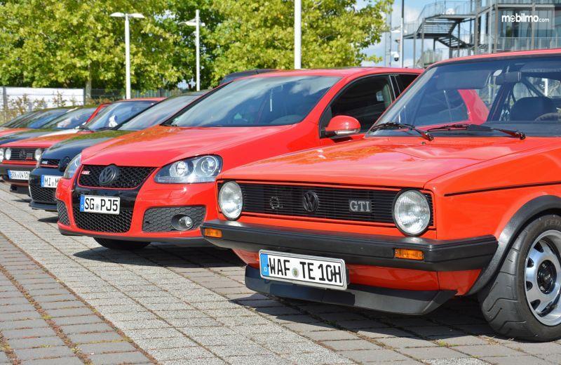 Gambar yang menunjukan event GTI Coming Home di Wolfsburg