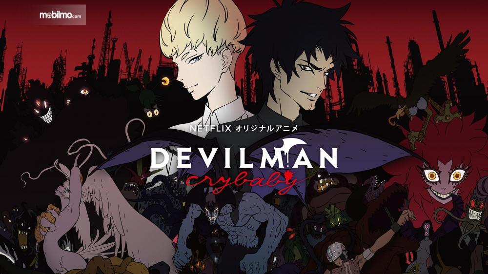 Gambar yang menunjukan tampilan anime Devilman: Crybaby