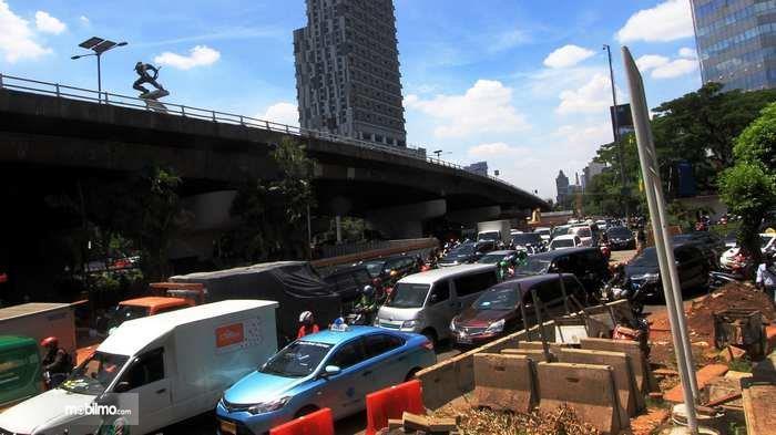 Kemacetan di Simpang Pancoran