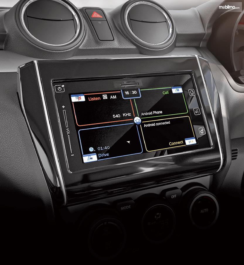 Tampak sistem audio yang advance pada Suzuki Swift 2019