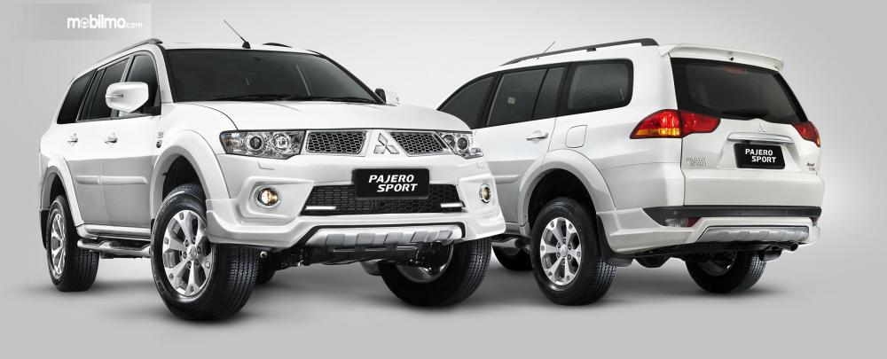 Tampak Mitsubishi Pajero Sport Dakar 2015 berwarna putih
