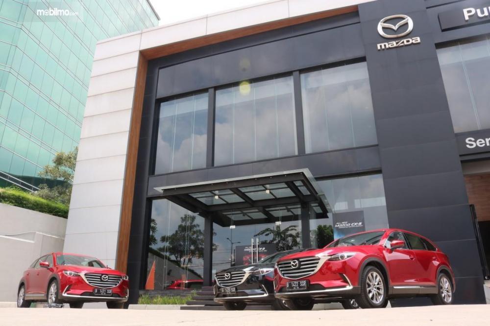 Foto dealer Mazda Eurokars Motor Indonesia tampak depan